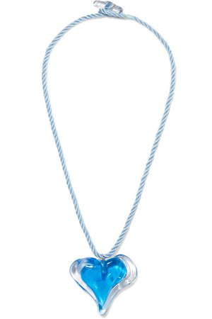 Maryam Nassir Zadeh | Heart glass and cord necklace | NET-A-PORTER.COM