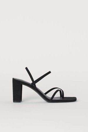 Block-heeled Sandals - Black