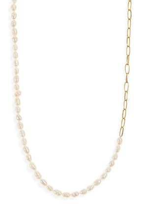 Madewell Freshwater Pearl Chain Necklace | Nordstrom