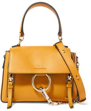 Faye Day Mini Textured-leather Shoulder Bag - Mustard