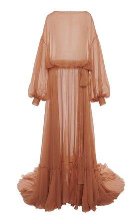 Draped Silk-Chiffon Gown By Valentino | Moda Operandi