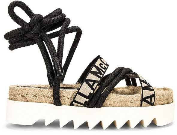 Gaia Sandals in Black & White | FWRD