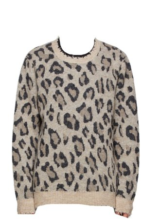 Beige Leopard Sweater
