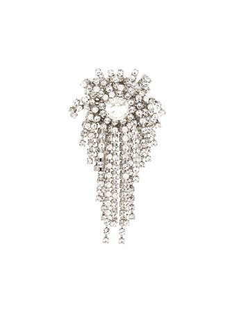 Alexandre Vauthier Fringed Crystal Brooche - Farfetch