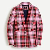 J.Crew: Parke Blazer In Pink Stewart Tartan For Women
