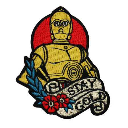 Disney Star Wars C3-PO Stay Gold Patch Droid Officially Licensed Iron On Applique - Walmart.com
