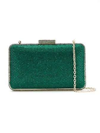 Serpui Crystal Clutch 4843ND6EMERALD Green | Farfetch