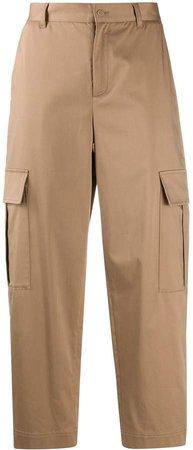 mid-rise straight-leg cargo pants