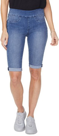 Pull-On Denim Bermuda Shorts