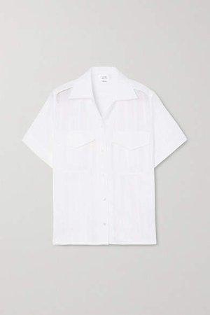 Victoria, Victoria Beckham - Crochet-trimmed Gauze Shirt - White