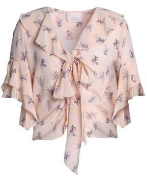Ivy Pussy-bow Floral-print Silk Crepe De Chine Blouse
