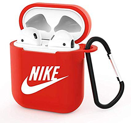 Amazon.com: Gebaisi Protective TPU Cover and Skin for Apple Airpods Charging Case with Keychain Red White C: Home Audio & Theater