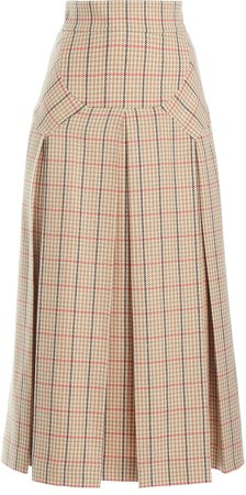 Emilia Wickstead Giuliana Checked Wool-Blend Skirt