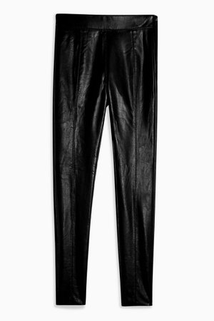 Black Faux Leather Skinny Trousers | Topshop