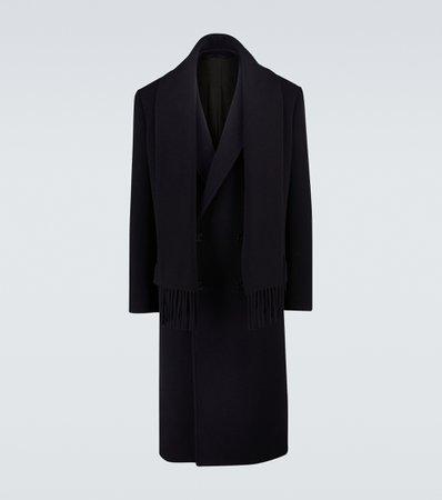 Balenciaga, Wool-blend headscarf coat