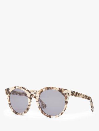 Modern Rarity Women's Preppy Round Sunglasses, Brown Confetti/Grey at John Lewis & Partners