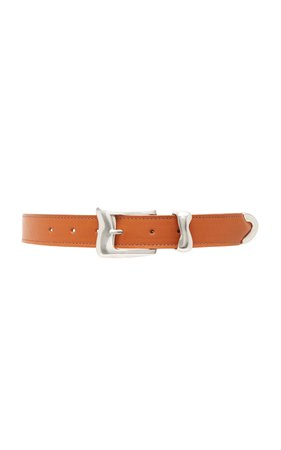 Clyde Wave Leather Belt Size: M