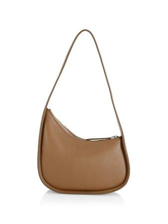 The Row Half Moon Leather Shoulder Bag   SaksFifthAvenue