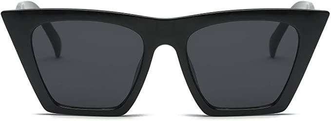 Amazon.com: FEISEDY Vintage Square Cat Eye Sunglasses Women Fashion Small Cateye Sunglasses B2473: Clothing