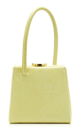 Mademoiselle Lizard-Effect Leather Top Handle Bag by Little Liffner | Moda Operandi