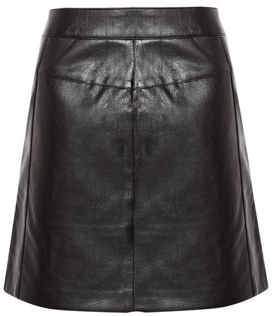 **Only Black Zip PU Skirt