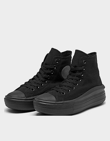 Converse Chuck Taylor All Star Move Hi sneakers in triple black | ASOS