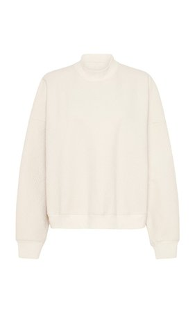 Lari Oversized Cotton Waffle-Knit Sweater by St. Agni | Moda Operandi