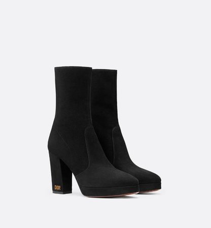 D-Rise ankle boot in suede calfskin - Shoes - Women's Fashion | DIOR