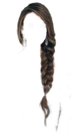 side braid brown hair