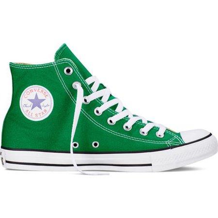 Green High-Top Converse