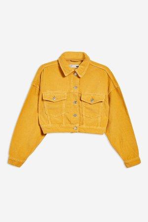 Mustard Corduroy Jacket - Topshop USA