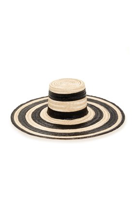 Janessa Leone Eloise Striped Straw Hat