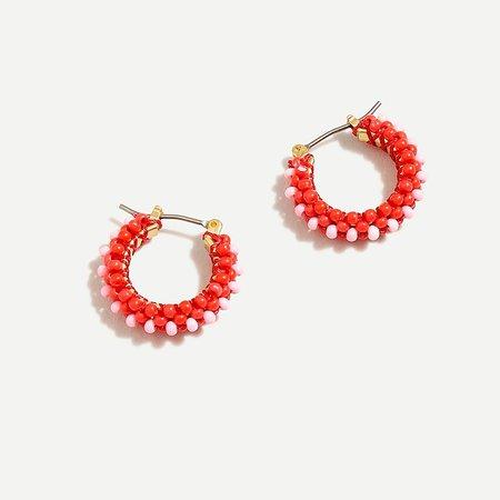 J.Crew: Beaded Mini Hoop Earrings