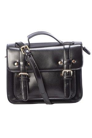 Galatee Messenger Style Small Black Gothic Handbag | Gothic