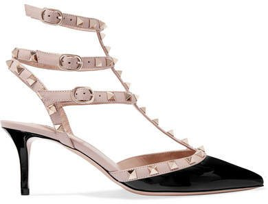 Garavani The Rockstud 65 Patent-leather Pumps - Black