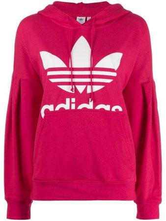 Pink Adidas Originals Trefoil Hoodie   Farfetch.com