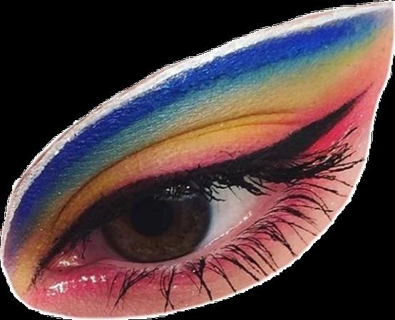 eye polyvore rainbow aesthetic