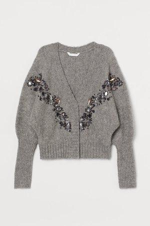 Wool-blend Cardigan - Gray
