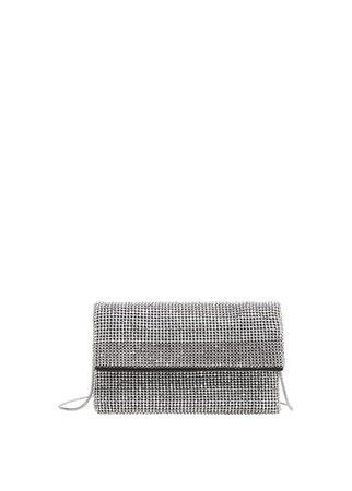 MANGO Rhinestone purse