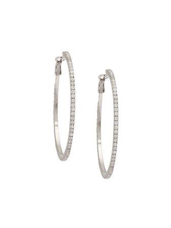 Miu Miu Crystal Hoop Earrings | Farfetch.com