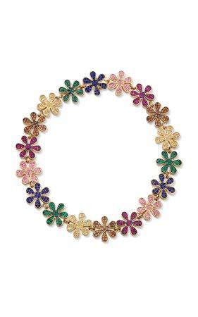 Rainbow Daisy Link Bracelet by Sydney Evan   Moda Operandi