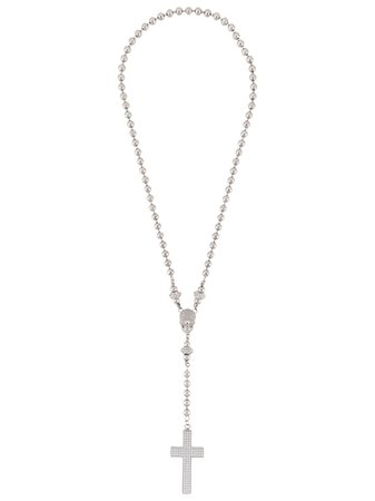 Philipp Plein Crystal Embellished Cross Pendant P20AMGB0007PXV043N Black   Farfetch