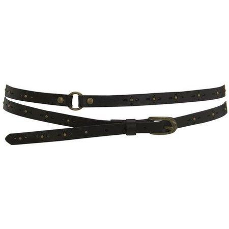 Double wrap stud & punchout belt