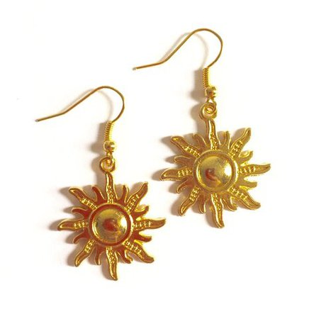 sun earrings gold - Pesquisa Google