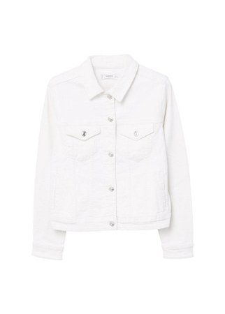 MANGO White denim jacket