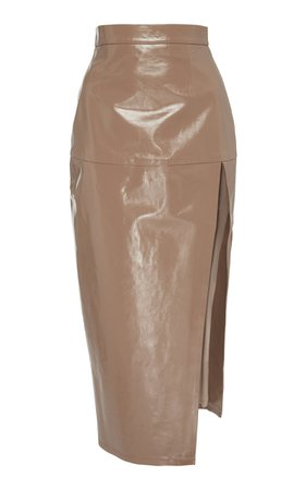 Zeynep Arçay | leather midi skirt
