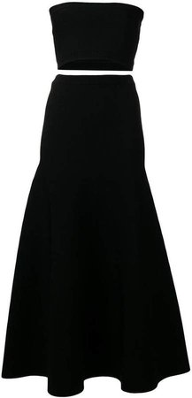 cropped bandeau top and skirt co-ord