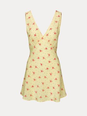 The Isabelli Verona | Yellow Floral Mini Dress | Réalisation Par