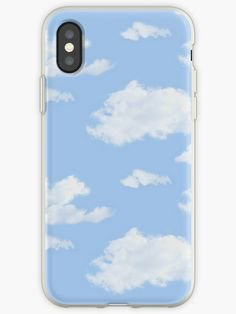 blue cloudy iphone case