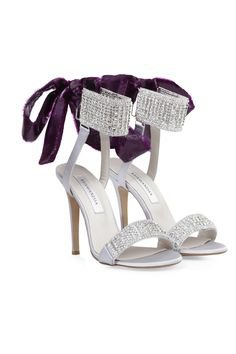silver purple shoes